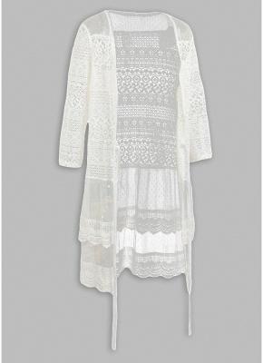 Women Boho Lace Long Cover Up Crochet Shawl Cardigan_3