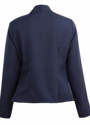 Autumn Spring Business Suit High-Low Women Blazer Coat_8