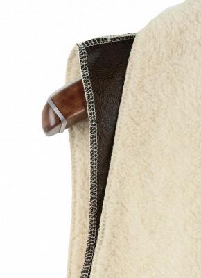 Suede Faux Fur Lapel Fleece Long Waistcoat_7