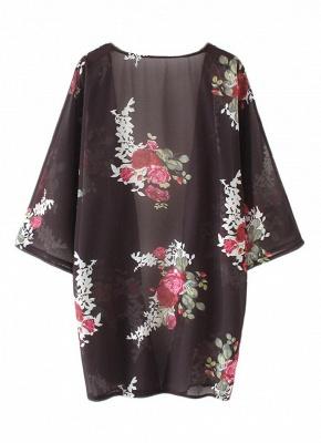 Women Floral Print Cardigan Open Front Maxi Coat Summer Boho Long Wear_5