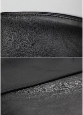 Fashion Women PU Leather Jacket Open Front Split Loose Cape Cloak Outerwear_7