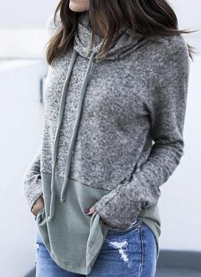 Women Warm Casual Drawstring Sweatshirt_4
