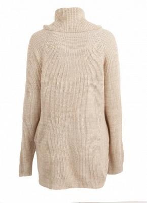 Winter Women Warm Oversize Turtleneck Sweater Long Sleeve Pockets Casual Rib Knitted Mini Dress_6
