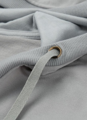 Deep V Neck Kangaroo Pocket Long Sleeve Loose Hoodies Pullover_5