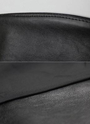 Fashion Women PU Leather Jacket Open Front Split Loose Cape Cloak Outerwear_8