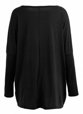 Loose Hoodies Solid O-Neck Batwing Long Sleeves Casual Soft Top Pullover_6