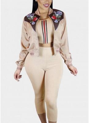 Fashion Women Floral Print Down Jacket_1