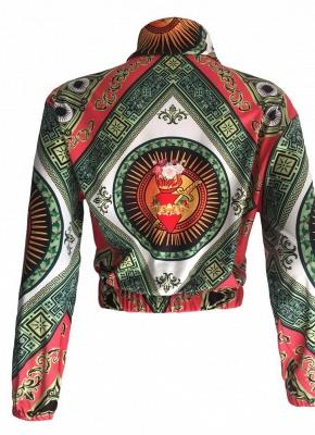 Printed Long Sleeve Zipper Streetwear Coat Bomber Jacket_5