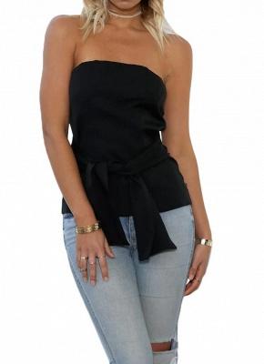 Women Strapless Top Bralette Camisole Tank Solid Elegant Party Clubwear_2