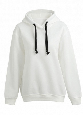 Fashion Side Zipper Hooded Neck Drawstring Long Sleeves Women's Hoodies_1