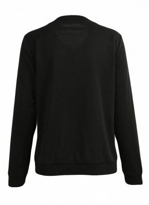 Fashion Women Floral Print Jacket Coat Zipper Long Sleeve Pocket Bomber Jacket_4