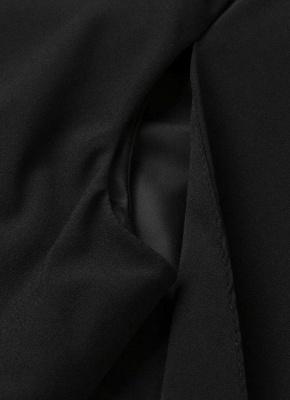 New Women Cape Blazer Lapel Split Pockets Casual Solid Cloak Coat Suit_7