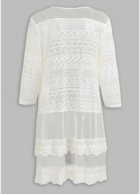 Women Boho Lace Long Cover Up Crochet Shawl Cardigan_4