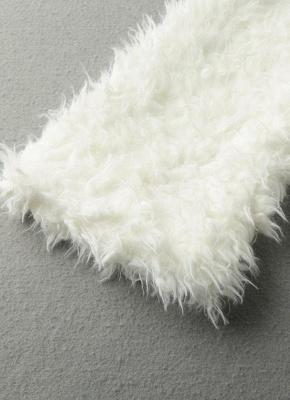 Winter Women Fluffy Faux Fur Coat Soft Lining Warm Solid Elegant Midi Outerwear Overcoat_7