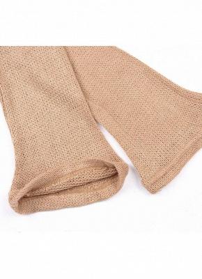 Shoulder Elegant Ruffle Sash Long Sleeve Women's Sweater Dress_9