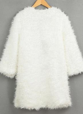 Winter Women Fluffy Faux Fur Coat Soft Lining Warm Solid Elegant Midi Outerwear Overcoat_5