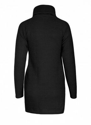 Women Casual Winter Solid Knitted Sweater Dress_6