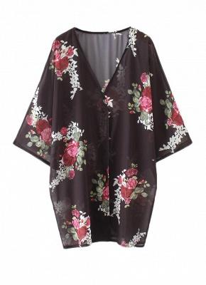 Women Floral Print Cardigan Open Front Maxi Coat Summer Boho Long Wear_4