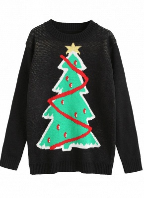 size Women Christmas Santa Knitted Sweater One Size_5
