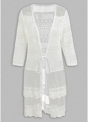 Women Boho Lace Long Cover Up Crochet Shawl Cardigan_2