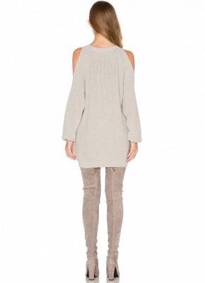 O-Neck Long Sleeve Tunic Women's Sweater Dress_4