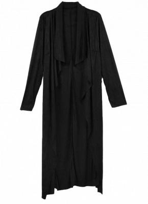 Fashion Drape Waterfall Long Sleeve Maxi Cardigan_3