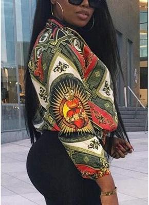 Printed Long Sleeve Zipper Streetwear Coat Bomber Jacket_3