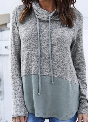 Women Warm Casual Drawstring Sweatshirt_1