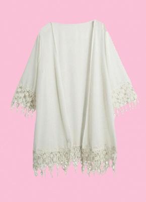 Anself Crochet Tassel Beach Cover Up Kimono_1