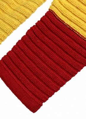 yellow Rainbow Color Block Crew Neck Sweater_6