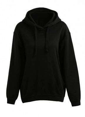 Fashion Side Zipper Hooded Neck Drawstring Long Sleeves Women's Hoodies_2