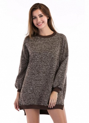 Fashion Knitted Sweater Long Sleeve Loose Women's Pullover_5