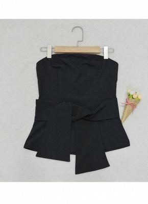 Women Strapless Top Bralette Camisole Tank Solid Elegant Party Clubwear_7