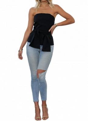 Women Strapless Top Bralette Camisole Tank Solid Elegant Party Clubwear_4