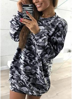 Women Camo Hoodie Pullovers Casual Long Sleeves Sweatershirt_1