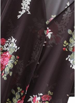 Women Floral Print Cardigan Open Front Maxi Coat Summer Boho Long Wear_7