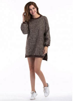 Fashion Knitted Sweater Long Sleeve Loose Women's Pullover_7