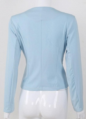 Autumn Women Slim Fit Long Sleeves Open Front Blazer Jacket_4