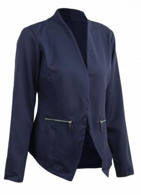 Autumn Spring Business Suit High-Low Women Blazer Coat_6