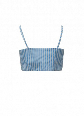 Women Striped Cami Tie Front Bow Sleeveless Bandage Bralette Casual Top_6