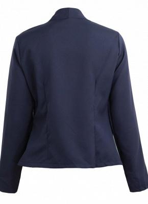 Autumn Spring Business Suit High-Low Women Blazer Coat_5