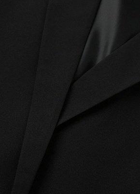 New Women Cape Blazer Lapel Split Pockets Casual Solid Cloak Coat Suit_8