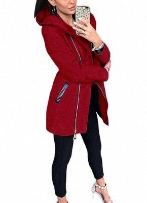 Women Casual Zip Up Hoodie Long Sleeves Pockets Sweatshirt Coat_1