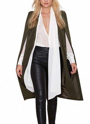 Autumn Women Long Cloak Blazer Coat Cape Cardigan Jacket Slim Office OL Suit Casual Solid Outerwear_4