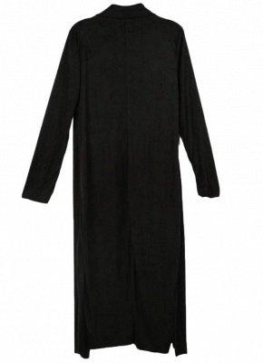 Fashion Drape Waterfall Long Sleeve Maxi Cardigan_5