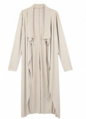 Fashion Drape Waterfall Long Sleeve Maxi Cardigan_1