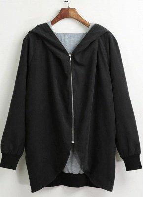 Autumn Winter Hoodies Zip Up Long Sleeve Plus Size Loose Women's Jacket_4
