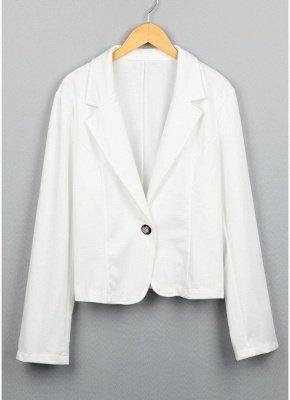 Women One Button Business Blazer Suit Long Sleeves Office Casual Leisure Coat Jacket Ladies Short Outwear_5