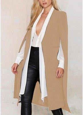 Autumn Women Long Cloak Blazer Coat Cape Cardigan Jacket Slim Office OL Suit Casual Solid Outerwear_2