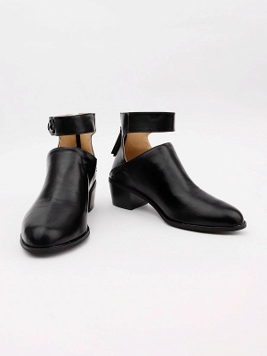 Women Chunky Heel Daily Zipper Round Toe Boots_21
